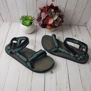 Teva Black Purple Teal Outdoor Sandals